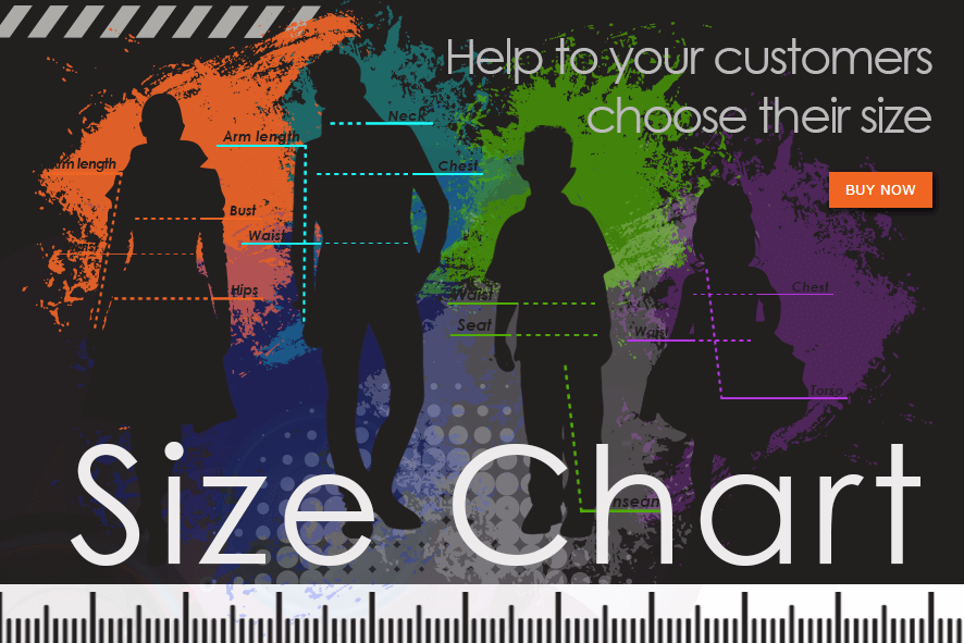 Magento Size Chart Extension - help to your customers choose their size. Size guide