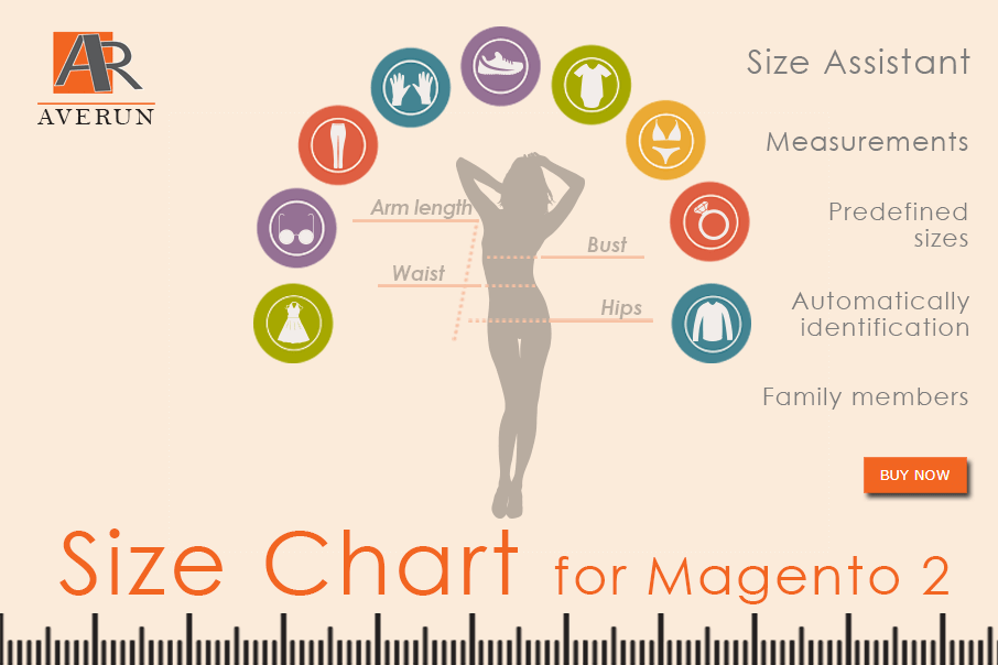 Magento 2 Size Chart Extension - the best assistant for choosing the size of clothing for your business. Size guide, size tables, size charts including