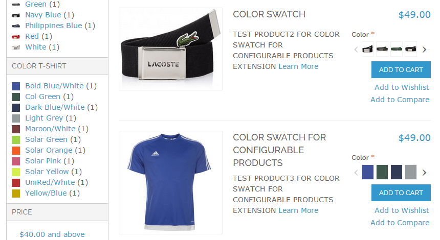 Magento Color Swatches on category page (product list)